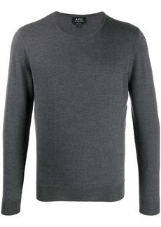 A.P.C. slim-fit crew neck pullover