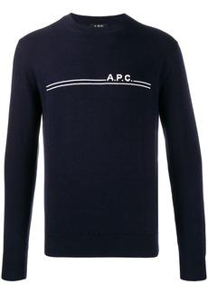 A.P.C. slim-fit logo pullover
