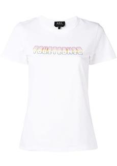 A.P.C. slogan print T-shirt