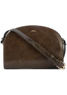 A.P.C. snakeskin effect shoulder bag