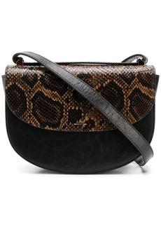 A.P.C. snakeskin print crossbody bag