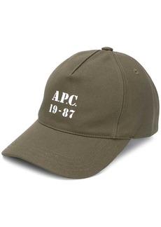A.P.C. Stamped Logo cap