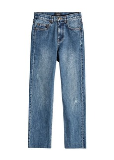 A.P.C. Standard Cropped Straight Leg Jeans