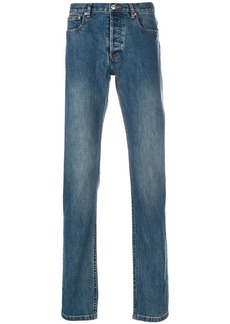 A.P.C. stonewashed slim-fit jeans