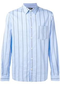 A.P.C. striped button shirt