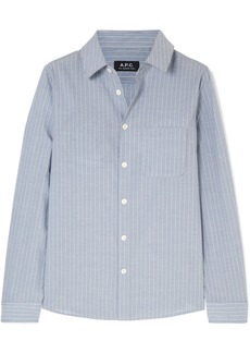 A.P.C. Striped Cotton-poplin Shirt