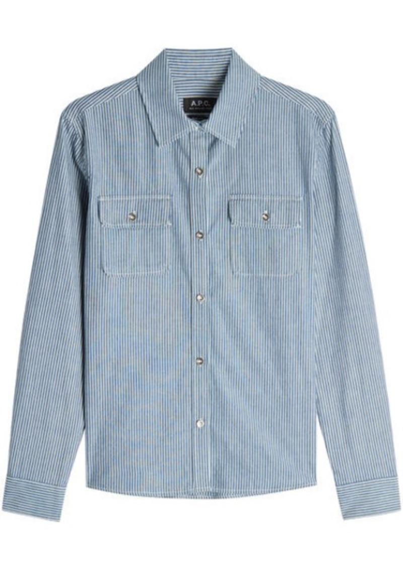 A.P.C. Striped Cotton Shirt