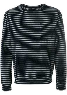 A.P.C. striped fitted top