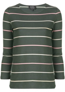 A.P.C. striped jersey top