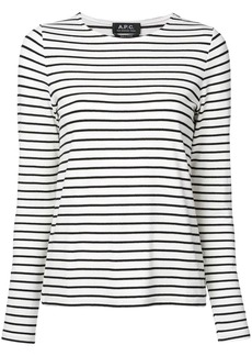 A.P.C. striped long-sleeve top
