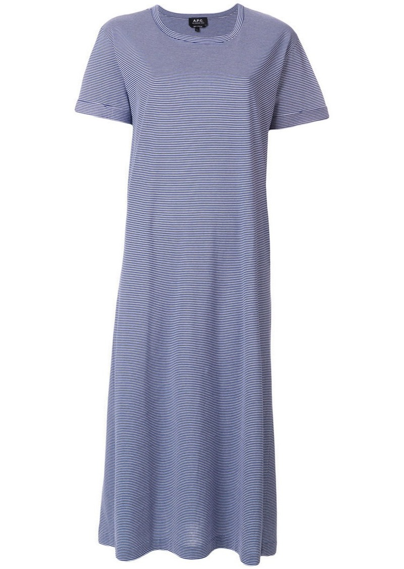 A.P.C. striped T-shirt dress