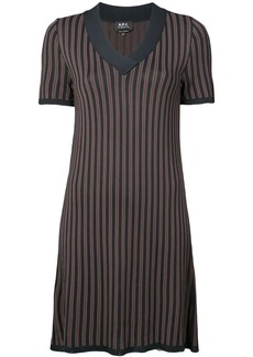 A.P.C. striped v-neck shift dress
