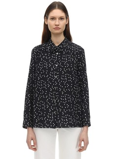 A.P.C. Sutton Printed Silk Crepe De Chine Shirt