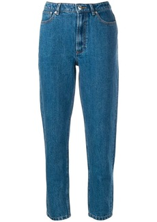 A.P.C. tapered cropped trousers