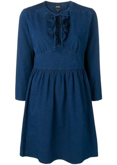 A.P.C. tie neck dress