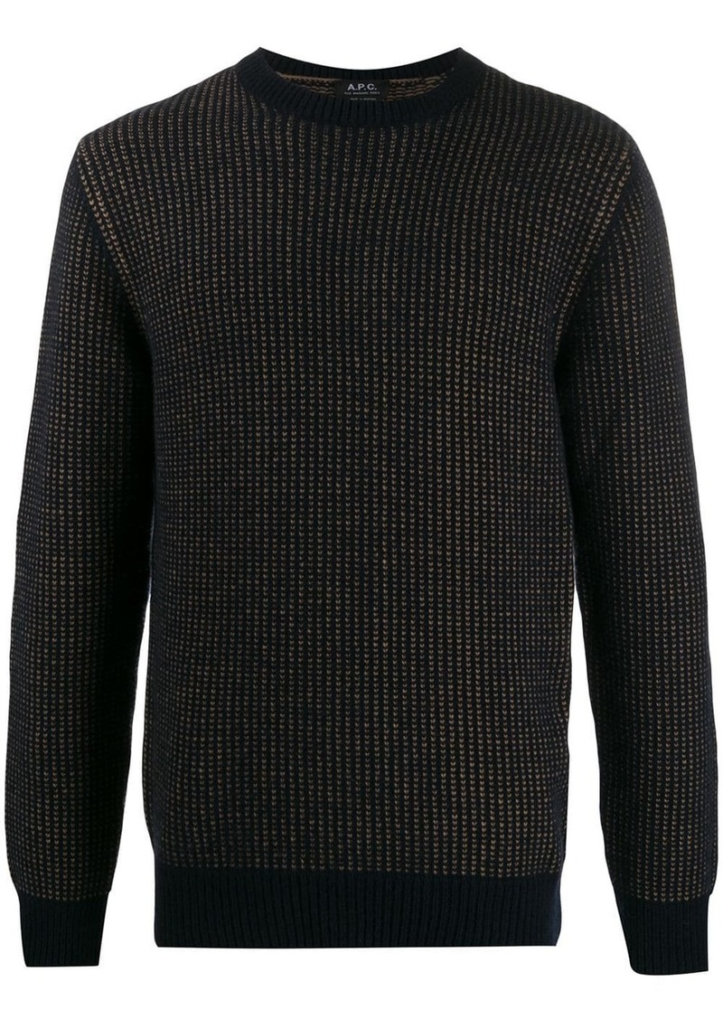 A.P.C. two-tone knitted jumper