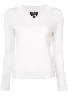 A.P.C. V-neck pullover