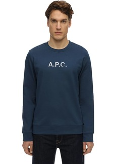 A.P.C. Vintage Logo Print Cotton Sweatshirt