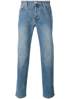 A.P.C. washed effect straight leg jeans