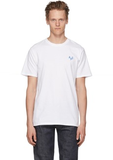 A.P.C. White & Blue Emeric T-Shirt