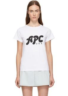 A.P.C. White U.S. Nancy T-Shirt