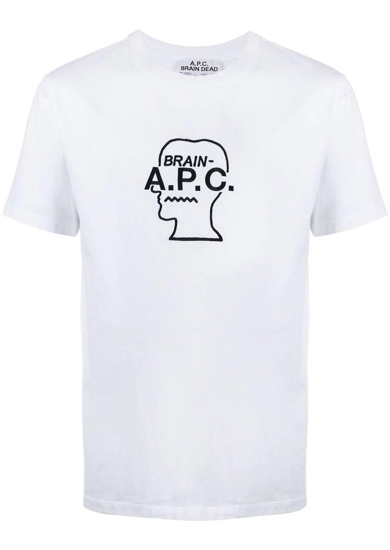 A.P.C. x Brain Dead logo print T-shirt
