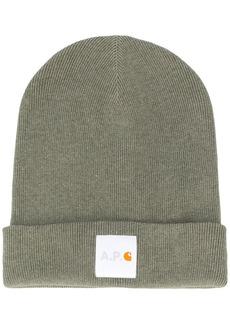 A.P.C. x Carhartt beanie hat