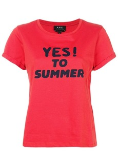 A.P.C. Yes print T-shirt
