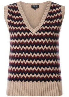 A.P.C. zigzag pattern knitted top