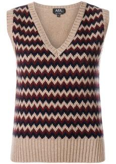 A.P.C. zigzag knit sweater vest