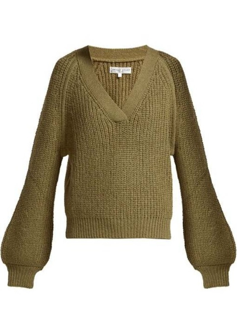 APIECE APART Astro wool-blend V-neck sweater