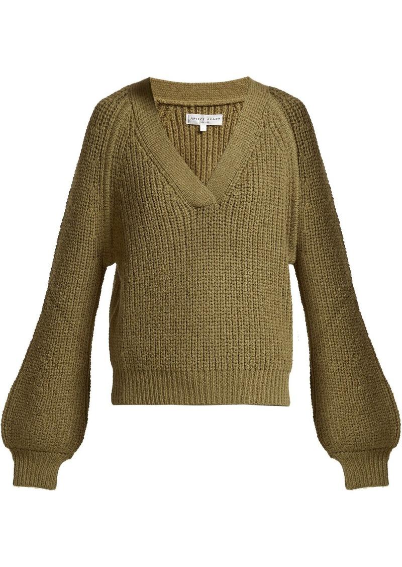 APIECE APART Astro wool-blend V-neck sweater