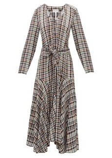 APIECE APART Pacifica belted checked dress