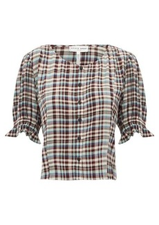 APIECE APART Star-Board checked rayon top