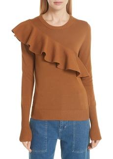 Apiece Apart Sterre Ruffle Detail Sweater