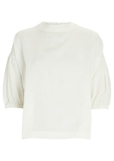 Apiece Apart Delle Linen Puff Sleeve Top