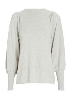 Apiece Apart Dewi Puff Sleeve Cotton-Cashmere Sweater