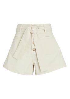 Apiece Apart Marston Tie-Waist Denim Shorts