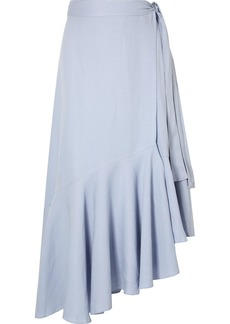 Apiece Apart Rosita Tencel And Linen-blend Wrap Skirt
