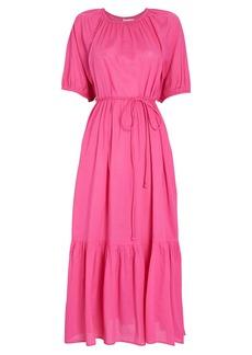 Apiece Apart Simone Tiered Cotton Midi Dress
