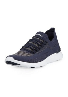 APL Athletic Propulsion Labs APL: Athletic Propulsion Labs Techloom Breeze Metallic Knit Mesh Running Sneakers