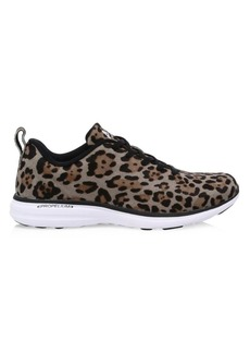 APL Athletic Propulsion Labs Iconic Pro Leopard Calf Hair Sneakers