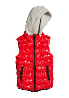 Appaman Apex Puffer Vest w/ Contrast Hood  Size 2-10