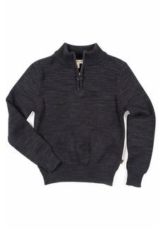 Appaman Boy's Mock-Neck Quarter-Zip Sweater  Size 2-10