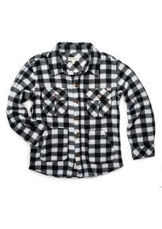 Appaman Gingham Fleece Collared Shirt  Size 2-10