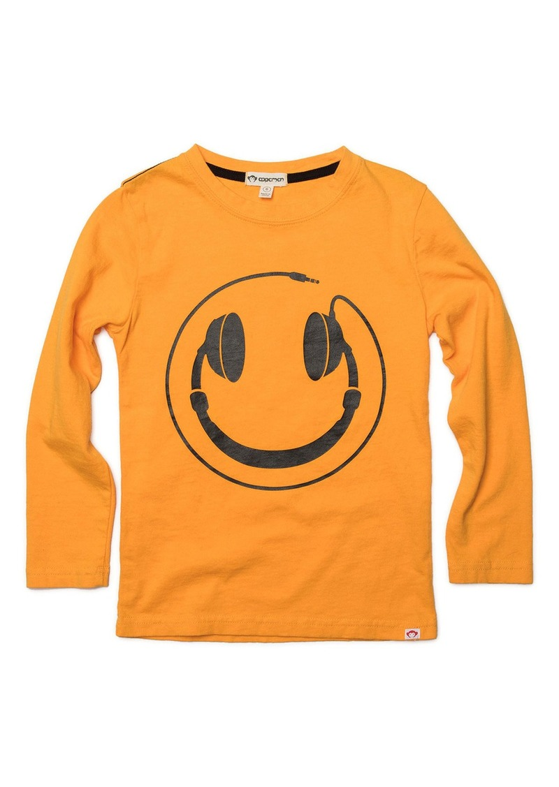 Appaman Headphones Smiley Face Graphic Tee  Size 2-10