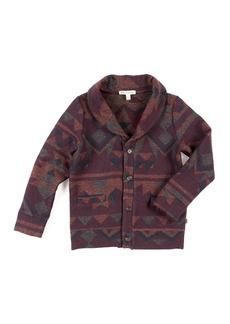 Appaman Shelby Geometric Knit Cardigan Sweater