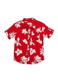 Appaman Short-Sleeve Button-Down Lilies Shirt