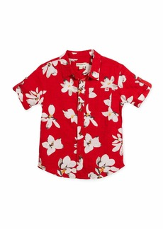 Appaman Short-Sleeve Button-Down Lilies Shirt