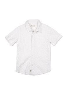 Appaman Short-Sleeve Tonal Pattern Beach Shirt